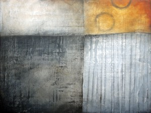 Field Map 9: Oil, graphite and plaster, 60x80cm